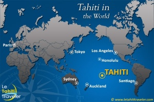 This is how Tahiti fits into the world.  Don't blink.