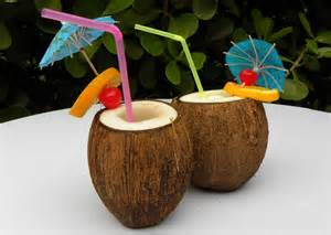 Coconut Glasses, Coconut drinks, Coconut candies, even Coconut Bras!