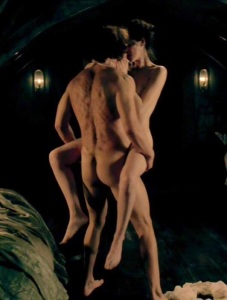 Cait, did you put on some weight?  No, Sam, are you spending too much time in the make up chair?  Kiss me you fool!